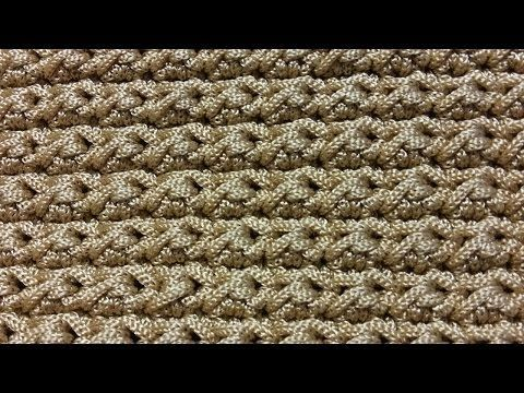 Tutorial punto a m. bassissima e mezza m. alta alternate | Crochet - YouTube