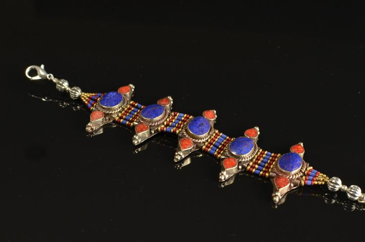 Beautiful Ethnic Tibetan Nepali  Statement Bracelet