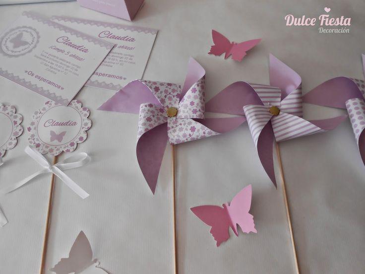 Kit imprimible Mariposas #fiestasinfantiles #mariposas