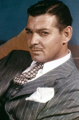Clark Gable, 1938 - Rare color celebrity photos from the 1930s to the 1950s - NY Daily News # Pin++ for Pinterest #