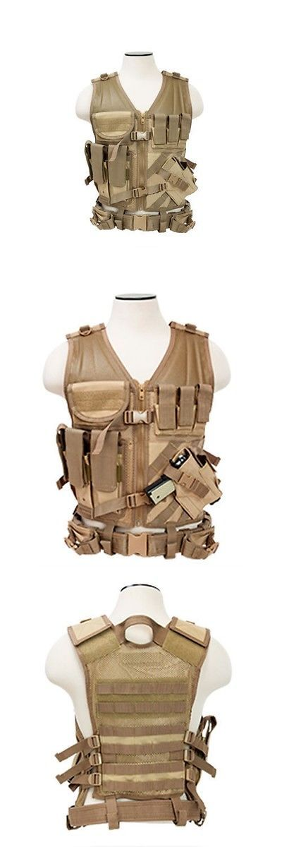 Chest Rigs and Tactical Vests 177891: New! Ncstar Heavy Duty Tan Tactical Military Vest W Pistol Holder Ctvl2916t Xl+ -> BUY IT NOW ONLY: $46.99 on eBay!