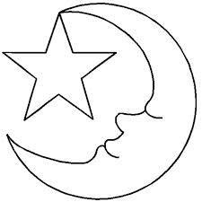 half moon template printable - Google Search | Moon ...