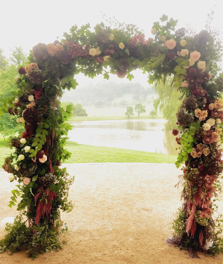 Beautiful Autumn romance Arch by Emma Blake Floral at Bendooley Estate southern Highlands NSW www.emmablakefloral.com