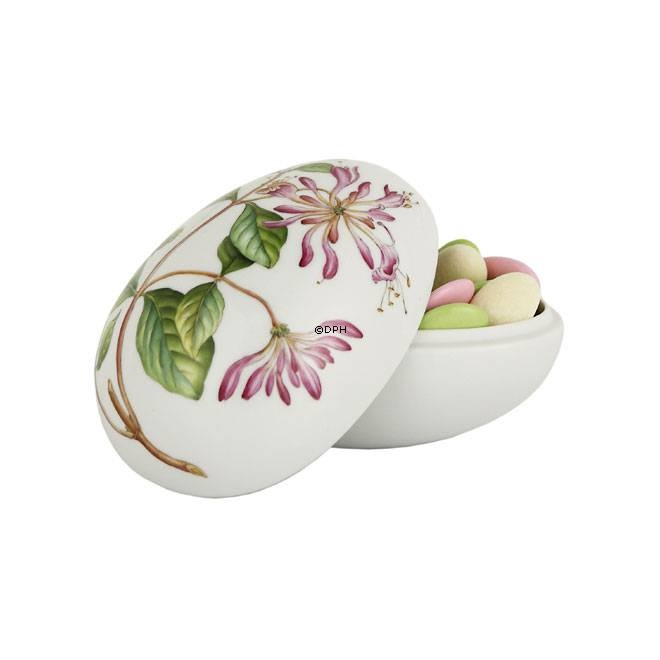 Easter egg, bonbonniere laying with honeysuckle, produced by Royal Copenhagen 2013