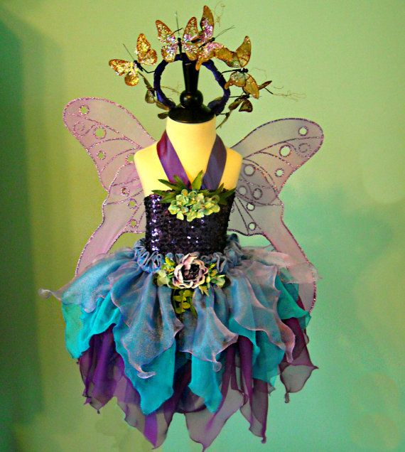 Girl's Fairy Costume Sparkling Butterfly Faerie by FairyNanaLand, $275.00