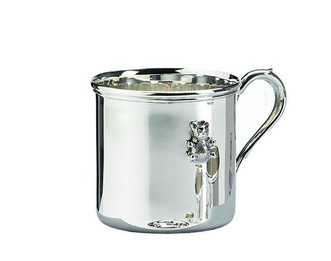 Baby mug with bear decoration #Sterlingsilver #Schiavon