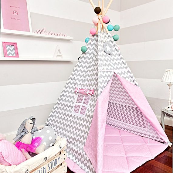 Teepee Kids Play Tent Tipi Sweet Moment by FUNwithMUM on Etsy