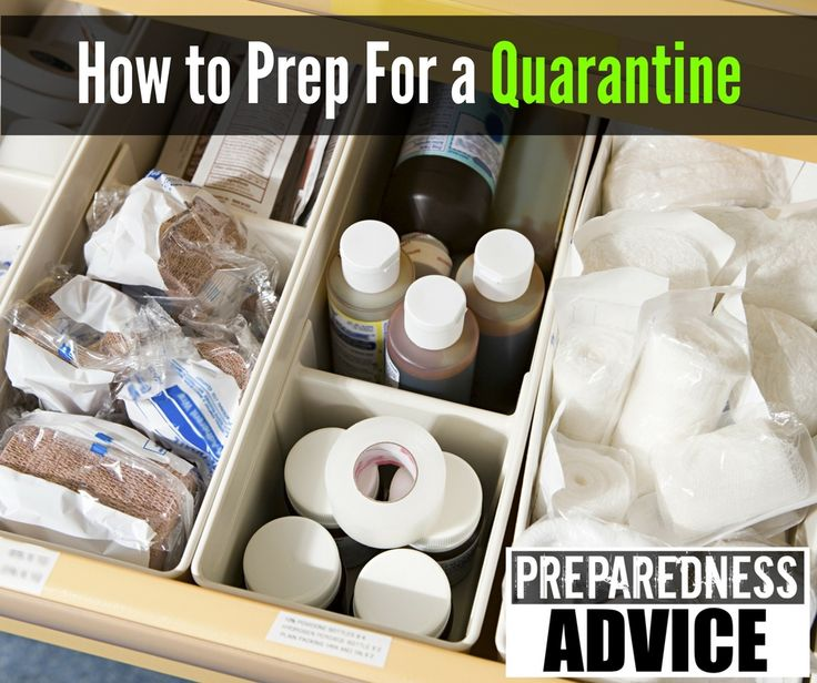 Even a widespread flu outbreak is reason enough to prepare and plan for a quarantine. #PreparednessAdvice