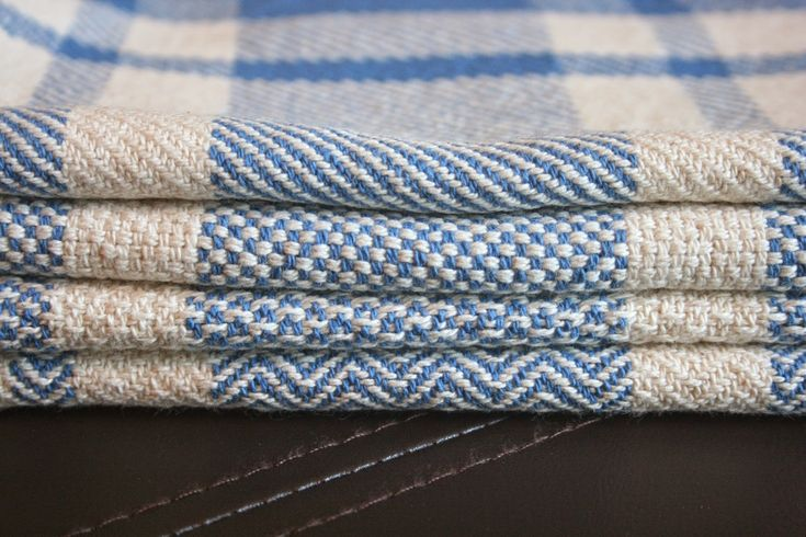 Cotton kitchen towels, 4 designs on one warp - draft included!