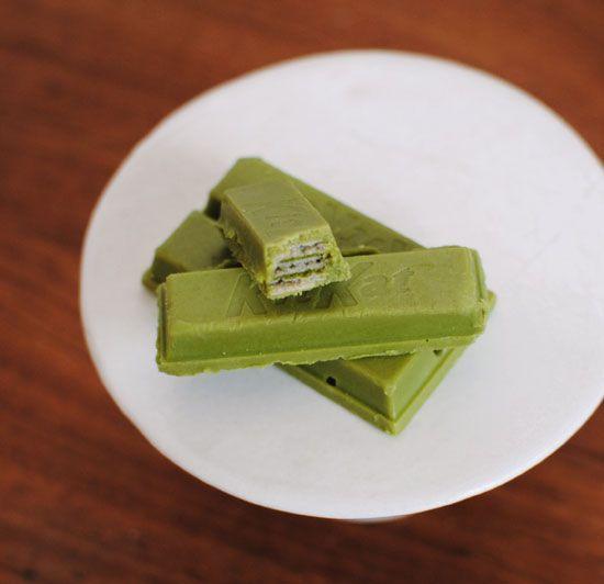 maccha green tea kit kats! - For @Shilpi Sheth