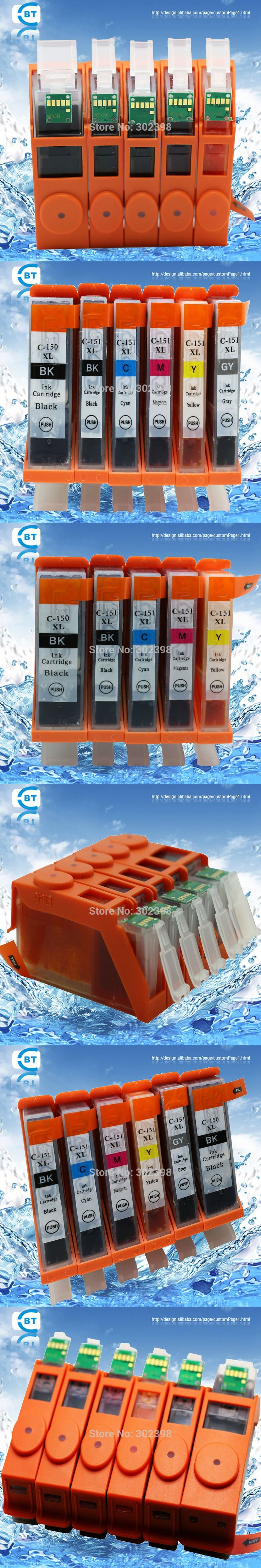 5 color 1set  Compatible ink cartridge for canon  PGI-150PGBK  CLI-151  for  South America market