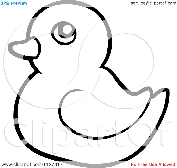 Rubber Duck Outline Tattoo Idea