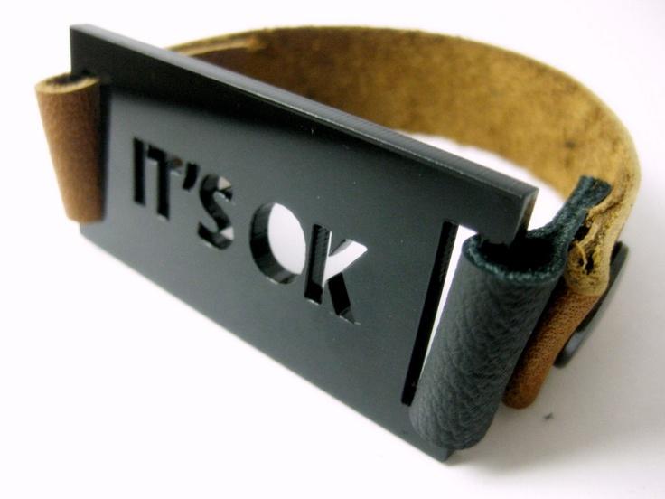 Lasercut bracelet black plexiglass jewelry it's by anmarkdesign