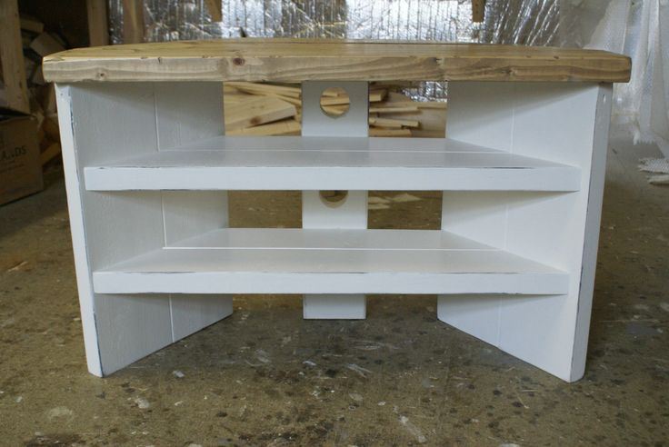 Details About Corner Tv Stand Cabinet Shabby Chic Rustic