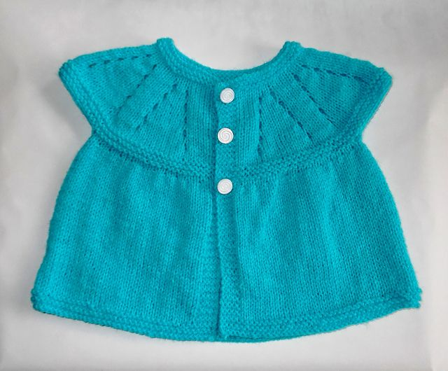 All-In-One Sleeveless Baby Top (9 - 12 Months) By Marianna Mel - Free Knitted Pattern - (ravelry)