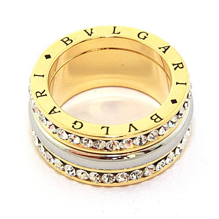 Кольцо BLV, два ряда кристаллов размеры 16-19, цена 200 грн,  beauty-mix.com.ua