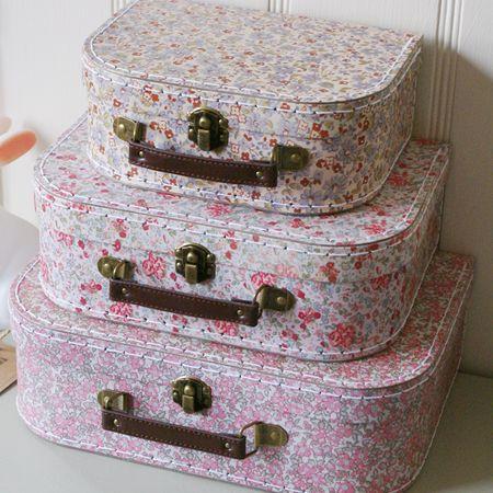 Little Vintage Floral Suitcase Set Main