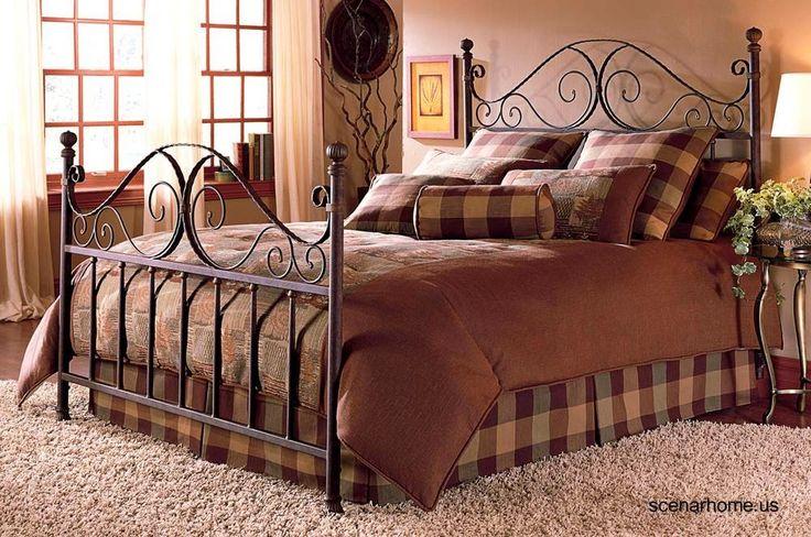 Fotos de modelos de camas dobles matrimoniales hechas de metal, algunas con ornamentos artísticos