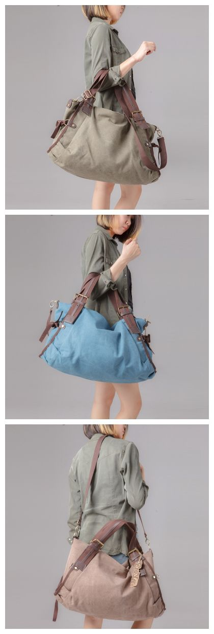 Women Canvas Tote Bag Messenger Bag Shoulder Bag Duffle Bag Large Travel Bag FB02