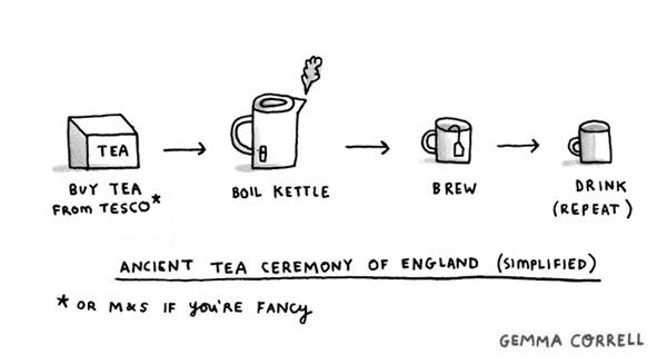 Ancient Tea Ceremony of England by gemma correll