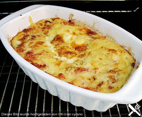 Überbackenes Kartoffelpüree