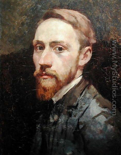 Edouard Vuillard (French 1868–1940) [Post-Impressionism, Les Nabis] Self-portrait, c. 1889-1890.