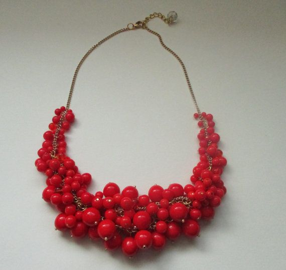 Hey, I found this really awesome Etsy listing at https://www.etsy.com/listing/218547820/chunky-cherry-red-cluster-necklace