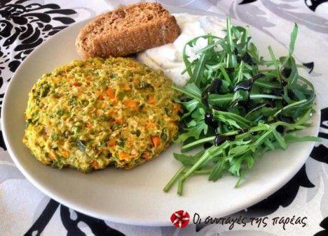 Μπιφτέκια με Λαχανικά και Βρώμη