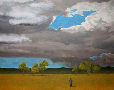 Fernando Puente. Óleo sobre lienzo. Persistencia de la lluvia 3.