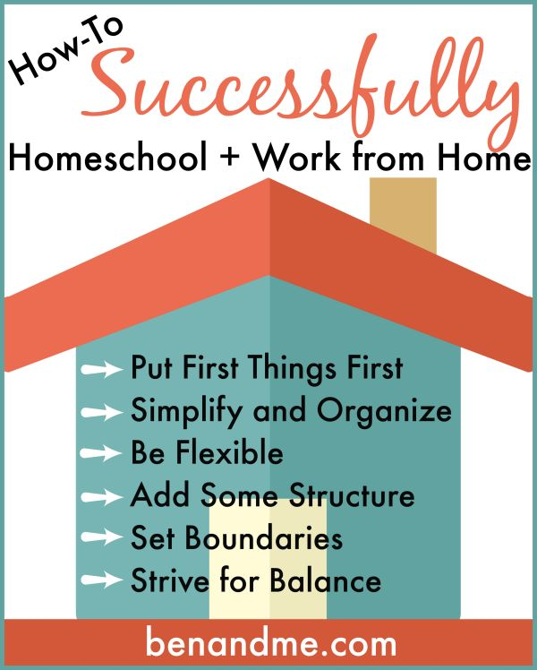 """As I sit down to write this post, it occurs to me that I should title it, """"The Things I'm Going to Attempt to Do This Year to Homeschool and Work from Home Successfully."""""""