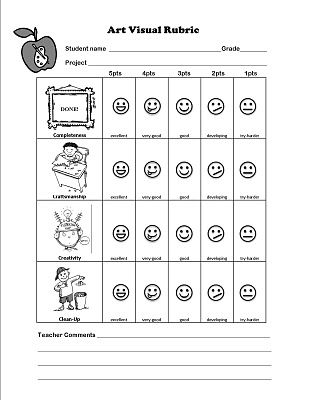 260 best Art Assessments\/Rubrics images on Pinterest Activities - self evaluations