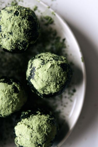 Matcha, Coconut & Cacao Protein Balls | Gather & Feast