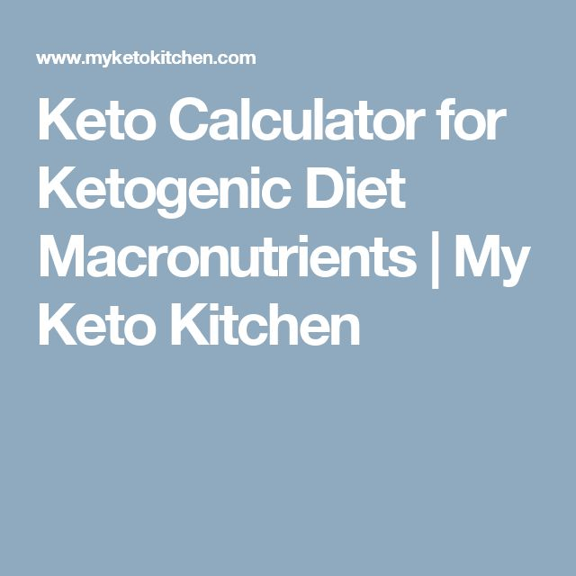 Keto Calculator for Ketogenic Diet Macronutrients | My Keto Kitchen