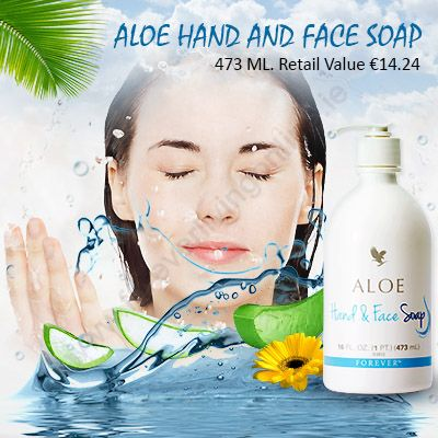 Aloe Hand and Face Soap -  It is a gentle soap with moisturizing elements in it. It is suitable for all the family members. It is very mild on the sensitive skin.