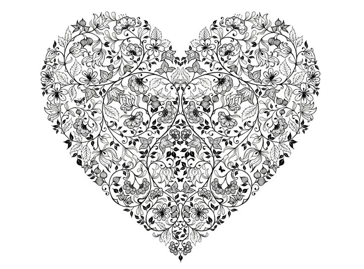 140 best Hearts to Color images on Pinterest   Coloring books ...