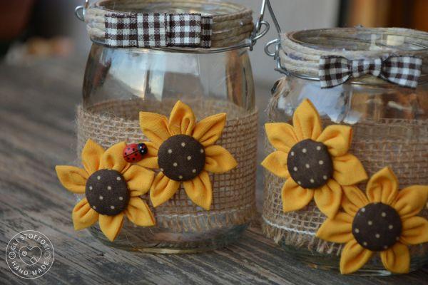 Lanterne country con girasoli