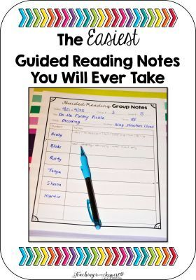 Guided Reading Notes - Read about this super easy way to take Guided Reading Notes on this post and grab a freebie -Teaching to Inspire with Jennifer Findley