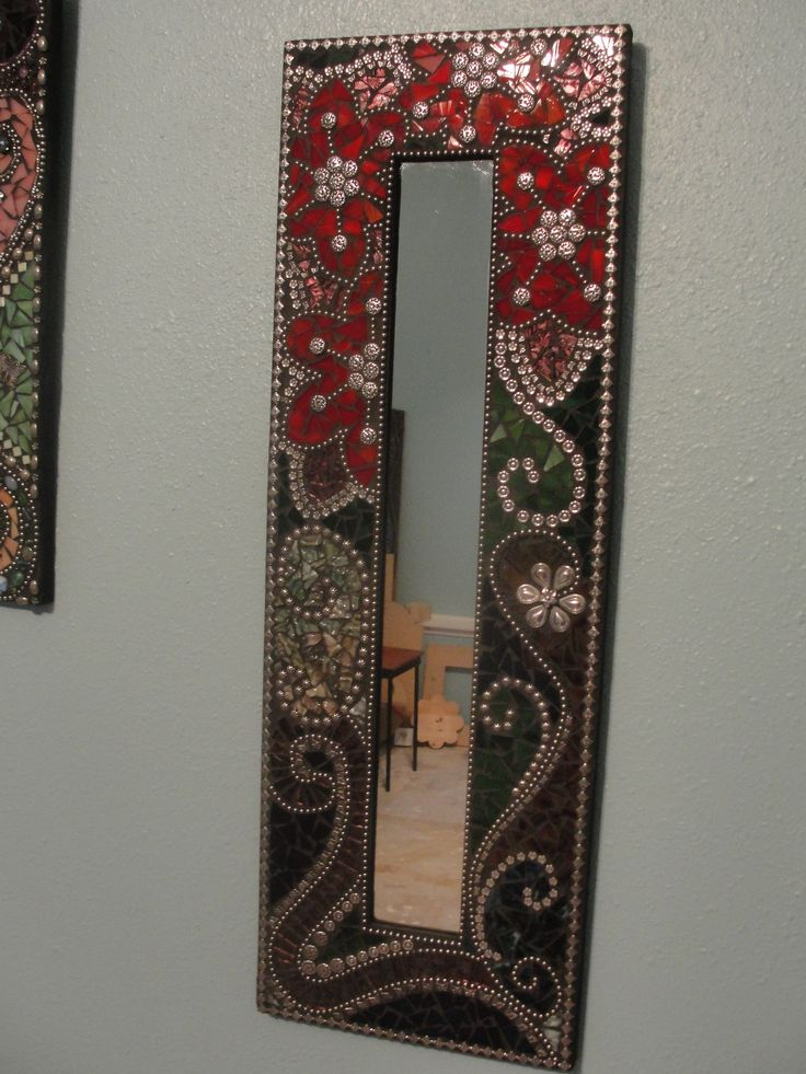 Beautiful mosaic mirror reminds me of