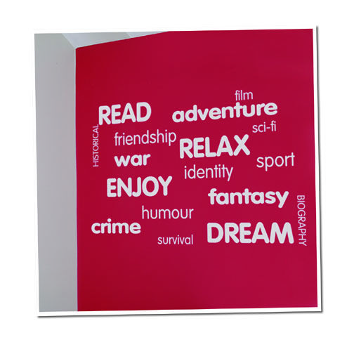 Reading Space Vinyl Lettering Word Wall