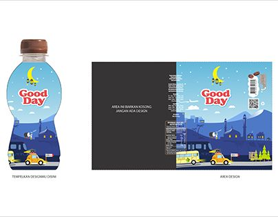 """Check out new work on my @Behance portfolio: """"label bottle design for good day coffee"""" http://be.net/gallery/62446539/label-bottle-design-for-good-day-coffee"""