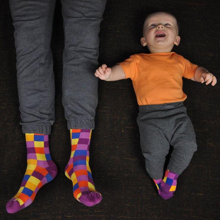Funny socks for dad & son./ Śmieszne skarpetki dla taty i synka