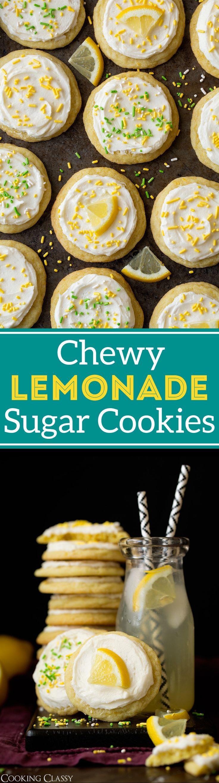 Chewy Lemonade Sugar Cookies - Cooking Classy