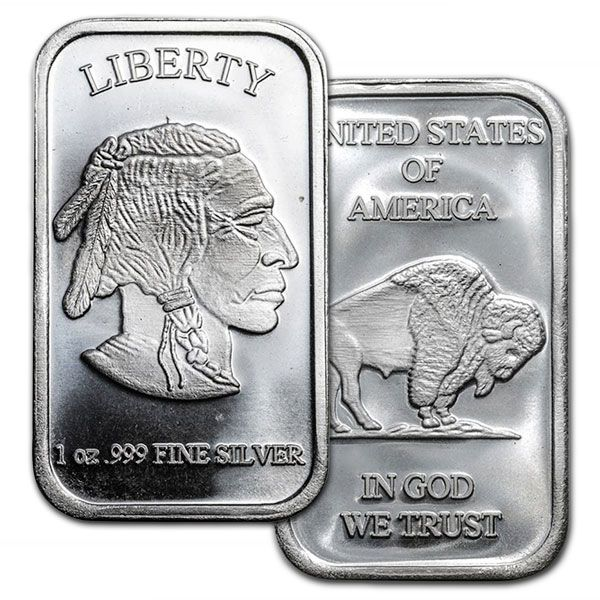 1 Oz Buffalo Silver Bars For Sale Money Metals Exchange Silver Bars Silver Bullion Silver