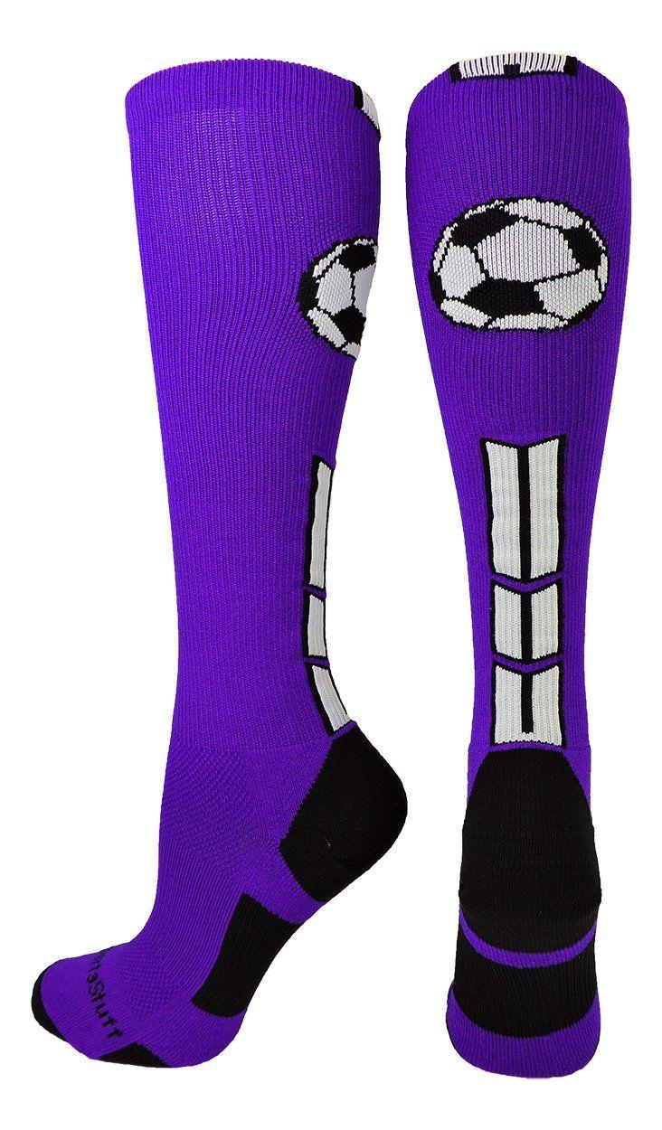 Soccer Ball Logo Over the Calf Socks (multiple colors)