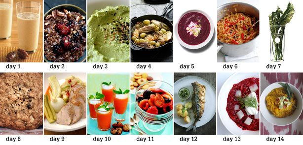 The food lover's cleanse: Under the guidance of nutritionist Marissa Lippert, Sara created a day-by-day schedule for the cleanse. She took inspiration from cookbooks, blogs, and magazines to fill the lineup with interesting, flavorful food.