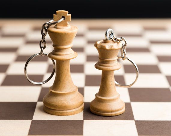 King and Queen chess key chains. Royal couple! Cute idea for your sweetheart. Valentines day is coming up....