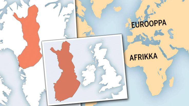 Valtioita koon mukaan suhteessa muihin valtioihin tai jopa maanosiin -- Uskoisitko, että Suomeen mahtuisi neljä Sri Lankaa ja Kanada peittäisi koko Euroopan? Karttasivusto rikkoo harhakäsityksemme siitä, kuinka maailma makaa.