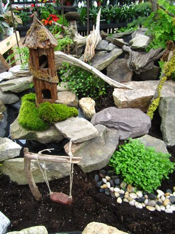 step 3 fairy garden, some greenery
