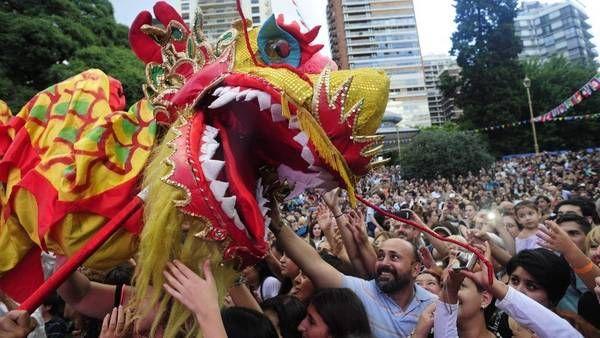 Año Nuevo chino en el Barrio Belgrano de Buenos Aires