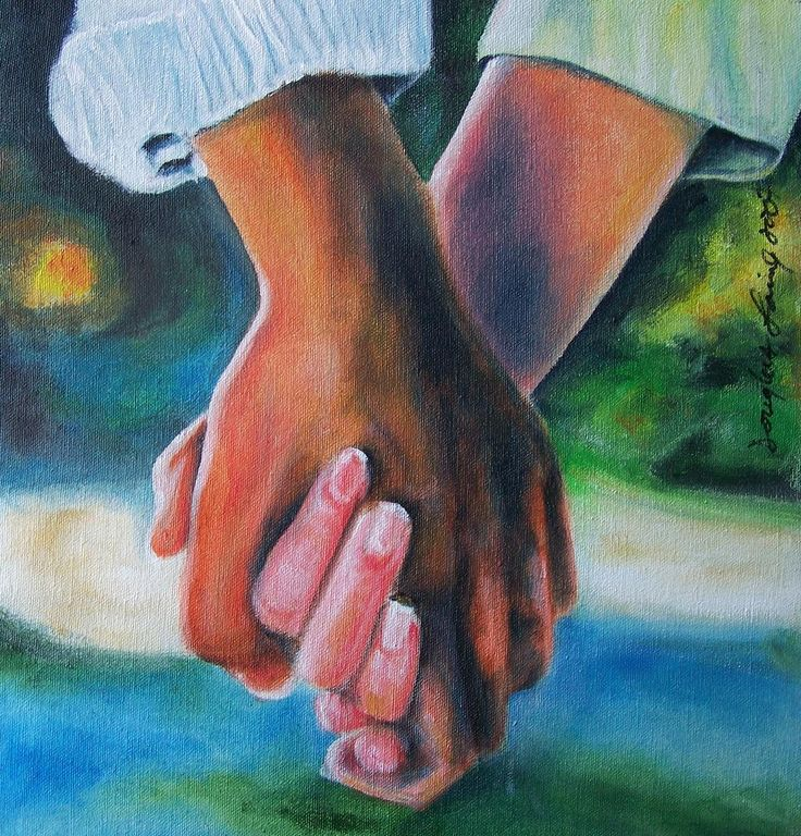 Image result for painting of hands  promise and parting